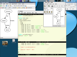 screenshot of graphviz